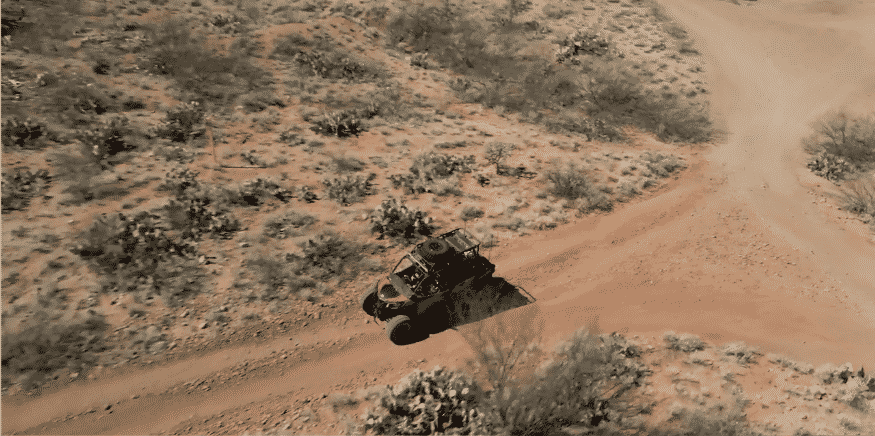 One of Peppersauce's vehicle on the road of Arizona desert.